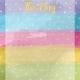 Raindrops and Rainbows Watercolor Fantasy This Day Journal Card 4x4