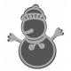 Winter Day Snowman Cookie Template