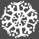 Winter Day Template- Snowflake 02