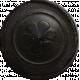 Garden Tales Elements - Flower Black Button
