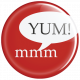 Food Day- Yum Button Pin
