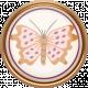 Fall Flurry Porcelain Butterfly Button