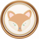 Fall Flurry Porcelain Fox Button
