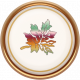 Fall Flurry Porcelain Leaf Button