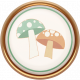 Fall Flurry Porcelain Mushroom Button