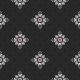 New Day Black Floral Polka Dot Print Paper