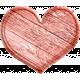 Treasured Wooden Pink Heart