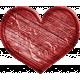 Treasured Wooden Red Heart