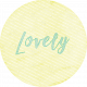 New Day Round Label Lovely