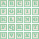 New Day Baby Lt Green Alpha Blocks A-Y Sheet