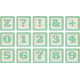 New Day Baby Lt Green Alpha Blocks Z, 0-9, Symbols Sheet