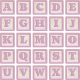 New Day Baby Lavender Alpha Blocks A-Y Sheet