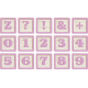 New Day Baby Lavender Alpha Blocks Z, 0-9, Symbols Sheet