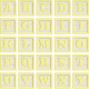 New Day Baby Yellow Alpha Blocks A-Y Sheet
