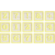 New Day Baby Yellow Alpha Blocks Z, 0-9, Symbols Sheet