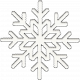 Sunshine and Snow White Enamel Snowflake