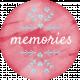Sunshine and Snow Memories Round Label