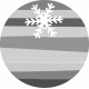 Snow Baby Template- Snowflake Striped Label