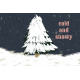 Warm n Woodsy Cold and Snowy Journal Card 4x6