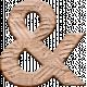 Inner Wild Wooden Ampersand