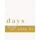 Reminisce Days Gone By Journal Card 3x4
