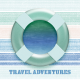 Coastal Spring Travel Journal Card 4x4