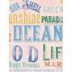 Coastal Spring Vintage Words Journal Card 3x4