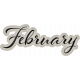 Delightful Days February Word Art