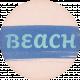 Coastal Spring Beach Tag