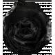 Veggie Table Elements- Black Flower