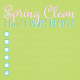 Spring Cleaning Mini Kit- Spring Clean Journal Card 4x4