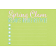 Spring Cleaning Mini Kit- Spring Clean Journal Card 4x6