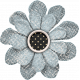 Old Farmhouse Light Blue Flower