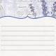 Lavender Fields Journal Card Lavender 4x4