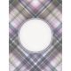 Lavender Fields Journal Card Plaid 3x4