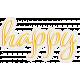 Bohemian Sunshine Element Happy Word Art
