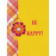 Bohemian Sunshine Be Happy 3x4 Journal Card