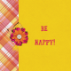 Bohemian Sunshine Be Happy 4x4 Journal Card