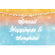 Bohemian Sunshine Happiness 4x6 Journal Card