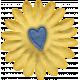 This Beautiful Life Heart Yellow Flower