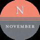 This Beautiful Life November Word Art