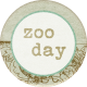 Into The Wild Round Zoo Day Label