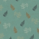 Copper Spice Leafy Ferns Paper