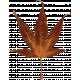 Copper Spice Brown Glitter Leaf