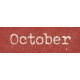 Autumn Bramble October Word Art