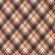 Autumn Bramble Plaid Paper with Stitching