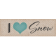 Snowhispers I Heart Snow Word Art Snippet