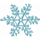 Winter Solstice Teal Snowflake