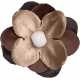 Sweaters & Hot Cocoa Mini Brown Flower