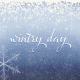 Winter Solstice Wintry Day 4x4 Journal Card